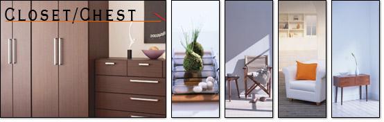 衣類収納家具のイメージ